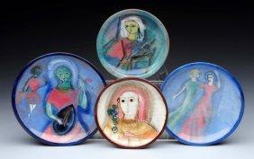 Lot Of 4: Pillin Plates.