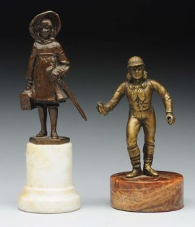 Lot Of 2: French Miniature Bronze Figures.