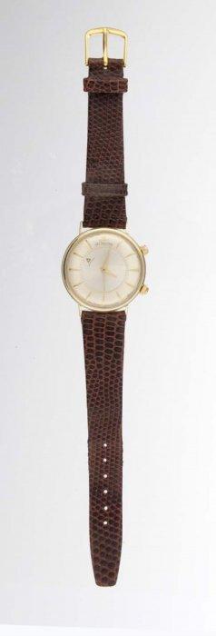A Gent's Strap Watch, Lecoultre.