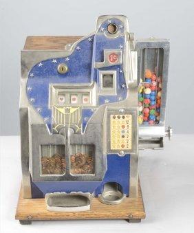 1¢ Mills Thunderbird Qt Slot Machine