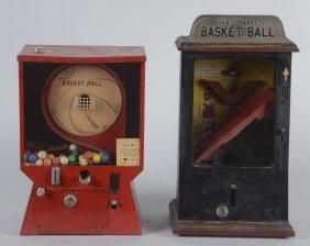 Lot Of 2: 1¢ Basketball Flip Ball Counter Games