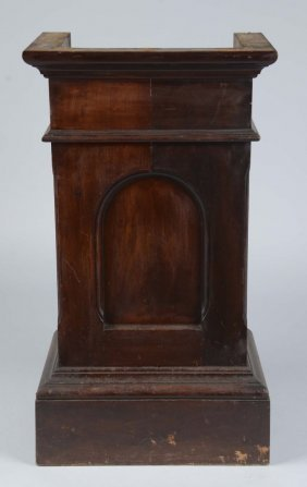 Open Back Wood Slot Machine Stand