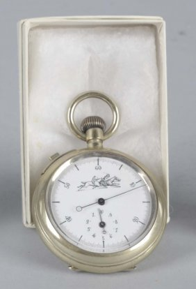 Horse Race Themed Pocketwatch Stopwatch