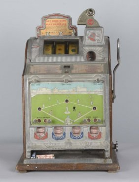 5¢ Mills Baseball Vender Skill Slot Machine