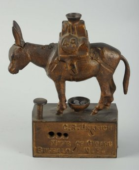 """49"" Donkey Figural Advertising Cigar Cutter"