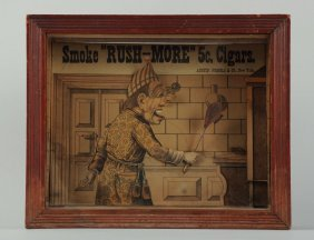 Smoke Rush-more Cigar Clockwork Picture In Frame