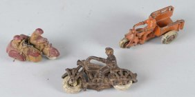Lot Of 3: Motorcycle Toys