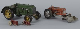 Lot Of 4: Tractor Farm Toys