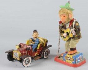 Lot Of 2: Tin Litho Toys