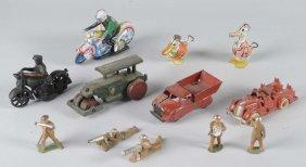 Lot Of 12: Metal Toys
