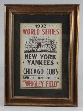 1932 World Series Poster