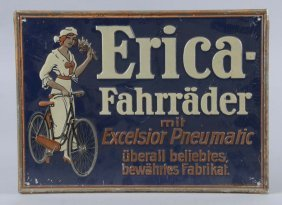Erica-fahrrader (bicycle) Embossed Tin Sign