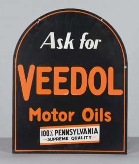 Ask For Veedol Motor Oil Sign