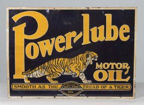 Power-lube Motor Oil With Tiger Sign