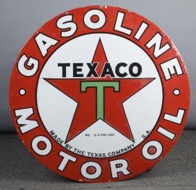 Texaco (star Logo) Porcelain Sign