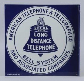 American Telephone Porcelain Flange Sign