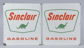 Lot Of 2: Sinclair Gasoline With Dino Signs