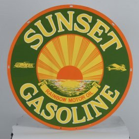 Sunset Gasoline Sign