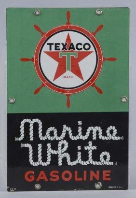 Small Texaco (white-t) Marine White Sign