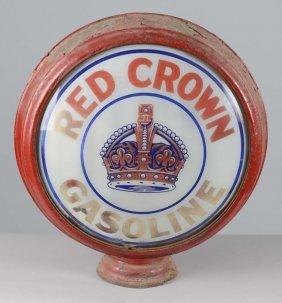 "Red Crown Gasoline 16-1/2"" Globe Lenses"