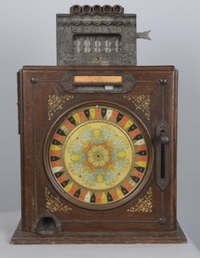 5¢ Watling Brownie Counter Wheel Slot Machine