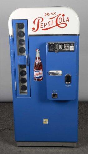 10¢ Vmc Pepsi-cola Floor Model Vending Machine
