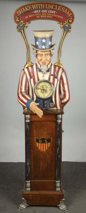 1¢ Caille Uncle Sam Arcade Machine