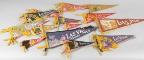 Lot Of 33: Las Vegas Cloth Banner Pennants