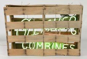 Rare Gleaner Farm Combines Neon Sign & Crate