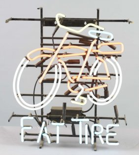 Fat Tire Beer Bicycle Neon Advertising Sign