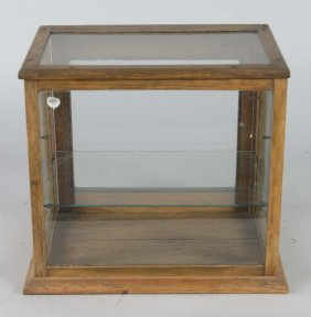 Oak & Glass Countertop Display Showcase