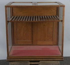 Cigar Store Wood And Glass Humidor