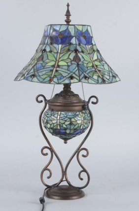 Tiffany Style Electric Table Lamp