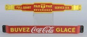 Lot Of 2: Coca Cola & Par T Porcelain Door Pushes