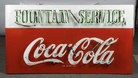 Coca Cola Sleigh Neon Porcelain Sign