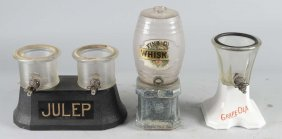 Lot Of 3: Syrup And Whiskey Dispensers