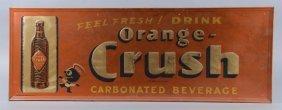 Orange-crush With Crushy Embossed Tin Sign