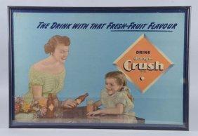 Drink Orange-crush Cardboard Sign In Frame