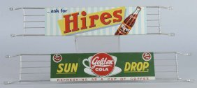 Lot Of 2: Hires & Sun Drop Cola Door Pushes