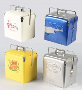 Lot Of 4: Contemporary Soda Coolers