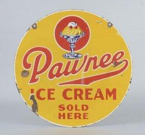 Pawnee Ice Cream Double Sided Porcelain Sign