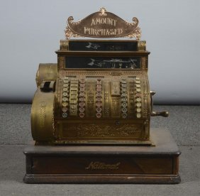 Ornate National Cash Register Brass Model 452