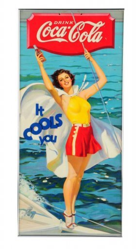 Beautiful And Stunning 1936 Coca - Cola Poster.