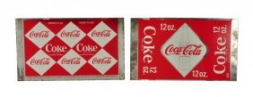 Lot Of 2: 1960's Coca - Cola Unformed Cans.