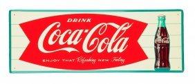 1960's Coca - Cola Tin Sign.