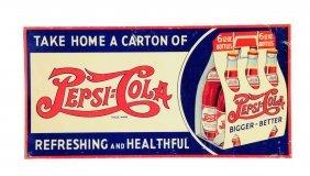 1930's Pepsi - Cola Tin Sign.