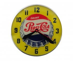 1950's Swihart Pepsi - Cola Light Up Clock.