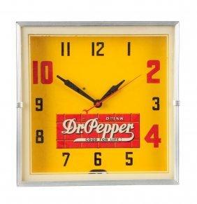 1940's Dr. Pepper Lackner Neon Clock.