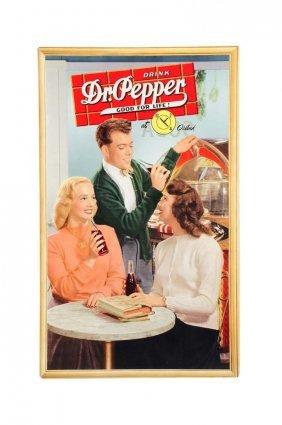 Rare 1940's Dr. Pepper Cardboard Poster.