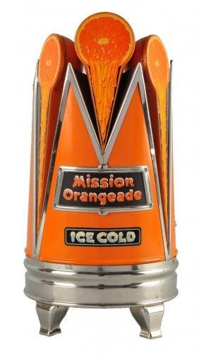 1930's Mission Orangeade Syrup Dispenser.
